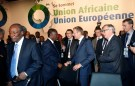 Ivory Coast's President Alassane Ouattara talks with Eropean Council President Donald Tusk during the closing session of the 5th African Union - European Union (AU-EU) summit in Abidjan, Ivory Coast November 30, 2017. REUTERS/Luc Gnago - RC1B6F41CF00